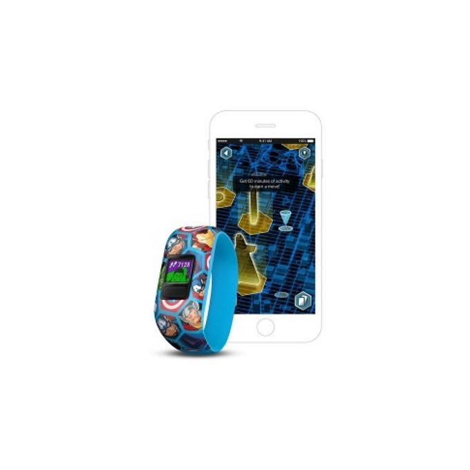 Смарт гривна Garmin vívofit® jr. 2, активити тракер за деца, 88x88 pix. дисплей, Bluetooth, водоустойчива, син(Avengers) image
