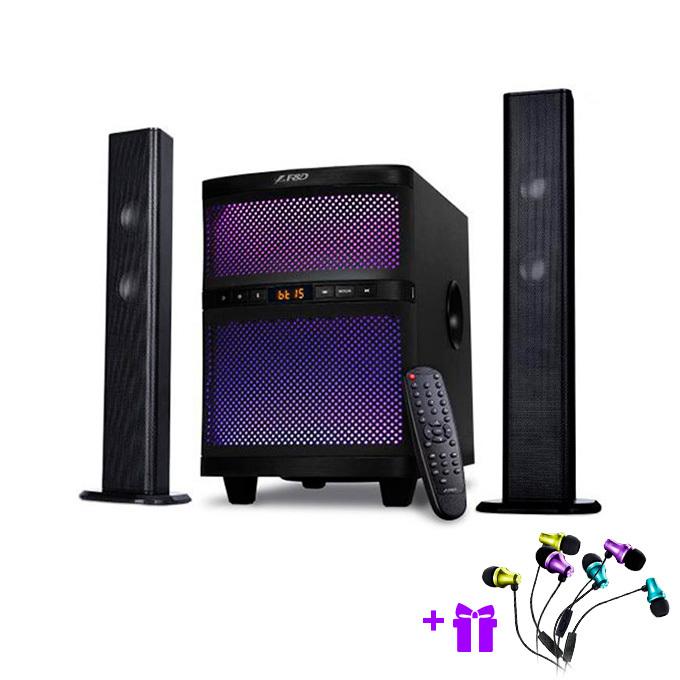 Тонколони Fenda F&D T-200X, 2.1, RMS 70W (1x35W + 2x17.5W), Bluetooth/USB, черни image