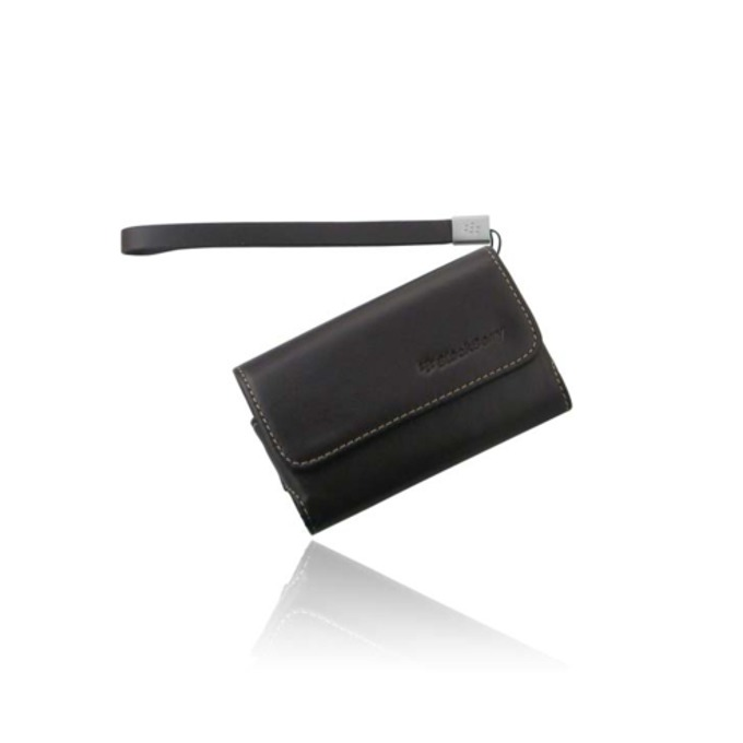 Калъф за Blackberry, джоб, еко кожа, Blackberry Leather Case, кафяв image
