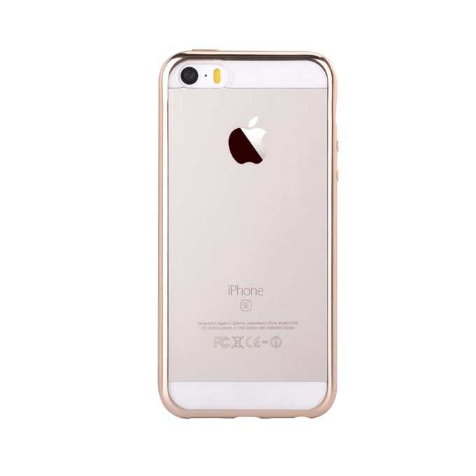 Силиконов протектор за Apple iPhone SE, iPhone 5S и iPhone 5, златист image
