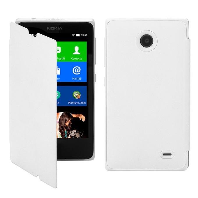 Калъф за Nokia X, Flip cover, бял image