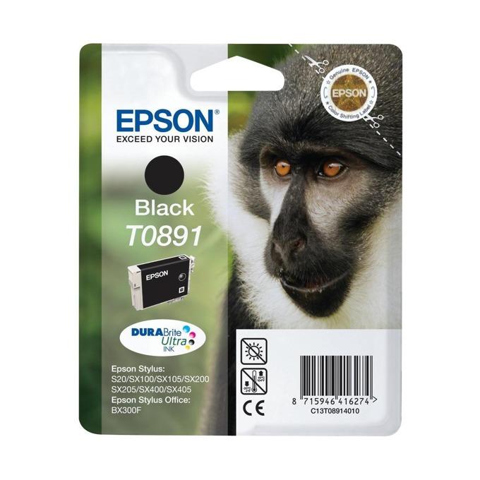 ГЛАВА ЗА EPSON STYLUS S20/SX100/105/200/205/400/405/BX300F - Black - P№ C13T08914010 - заб.: 5.8ml. image