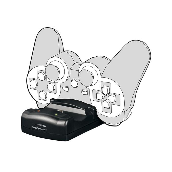 Зарядно за PS3 геймпад Speedlink Jazz USB Charging, 1m кабел, черен image