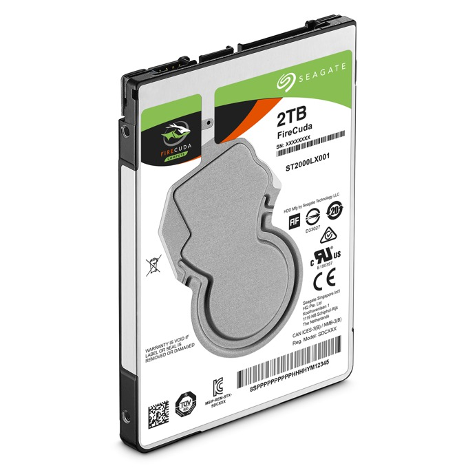 "Твърд диск 2TB Seagate FireCuda SSHD, 8GB MLC, SATA 6Gb/s, 5400 rpm, 128MB, 2.5"" (6.35cm) image"