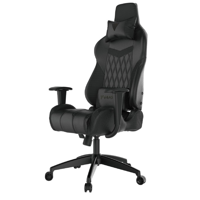 Геймърски стол Gamdias Achilles E2-L, кожа, до 200kg, черен image