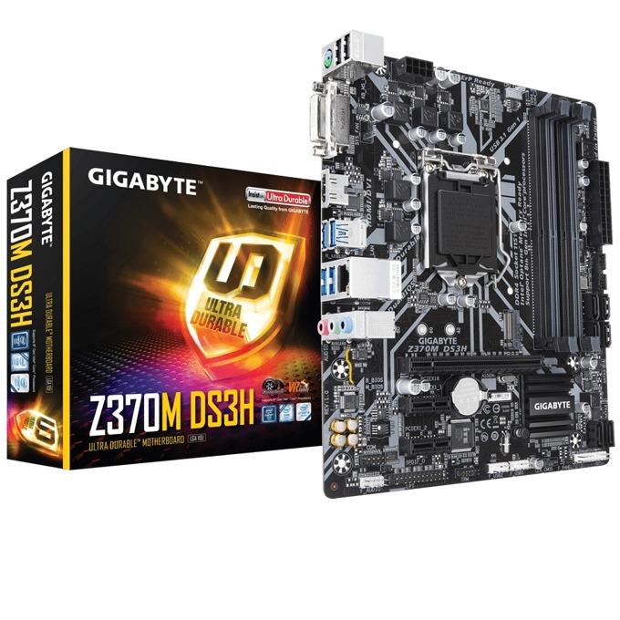 Дънна платка GIGABYTE Z370M DS3H, Z370, LGA1151, DDR4, PCI-E (HDMI&DVI-D), 6x SATA 6Gb/s, 1x M.2 Socket, 4x USB 3.1 Gen 1, Micro ATX image