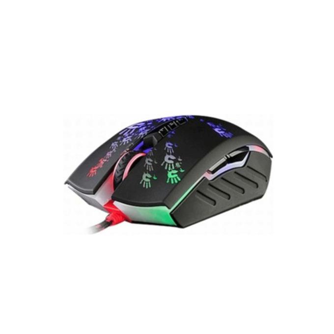 Мишка A4Tech Bloody Gaming A60 Light Strike, оптична (4000 cpi), гейминг, USB 3.0, черна, подсветка image