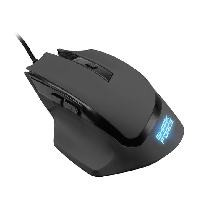 Мишка Sharkoon SHARK Force, оптична (1600 dpi), 6 бутона, подсветка, USB, черна image