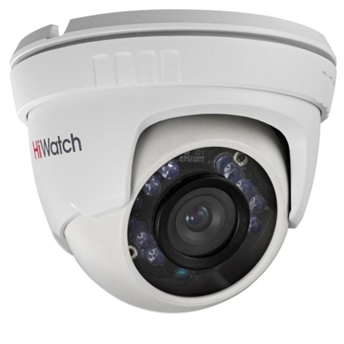 Аналогова/AHD камера HiWatch HWT-T120-M, куполна, 2MPix, (1080P(1920x1080/30fps), oбектив 2.8mm, IR осветеност (до 20m), външна IP66 image