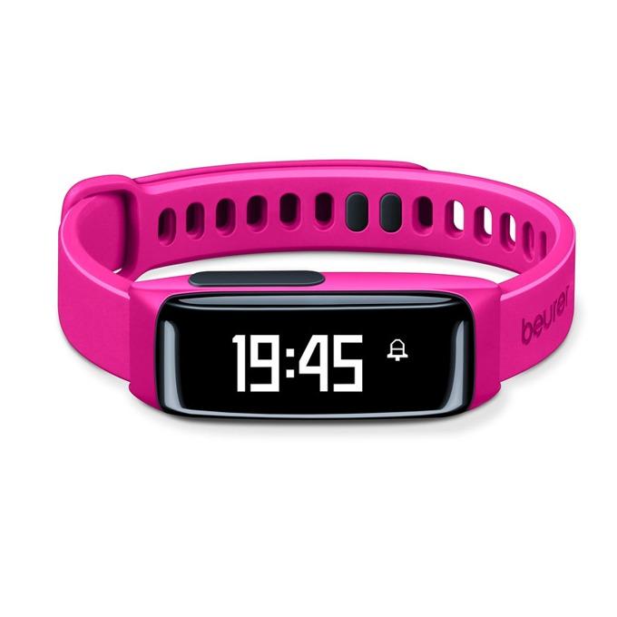 Фитнес гривна Beurer AS81 BodyShape, Bluetooth, сензор : крачки, изгорени калории, IPX4, розов image