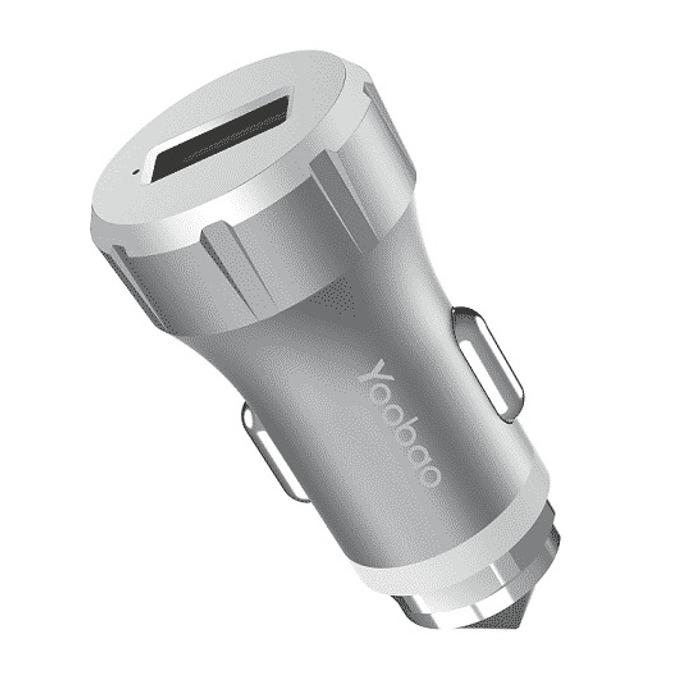 Зарядно устройство Yoobao, от автомобилна запалка към USB А(ж), 5V/2.4A, 9V/2.0A, сребристо image