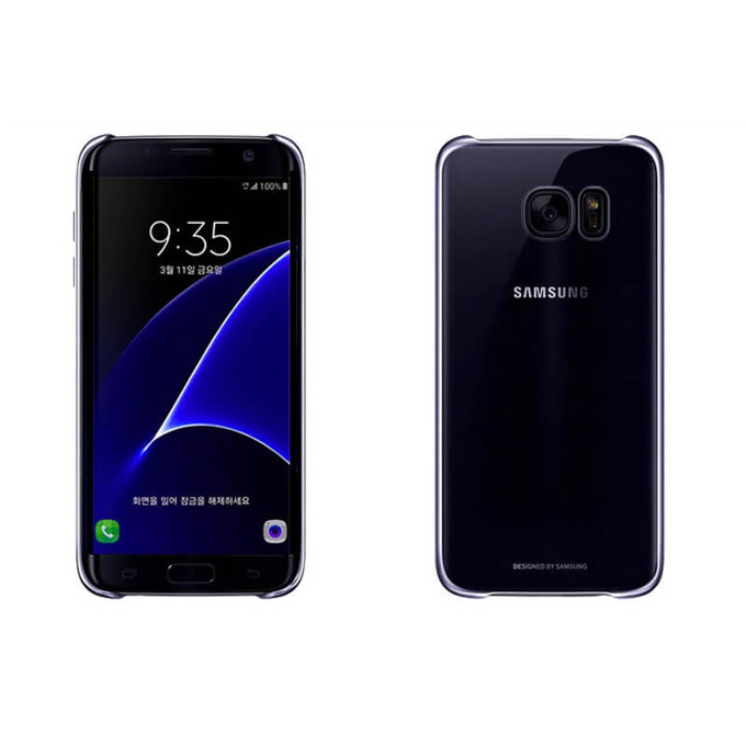 Калъф за Samsung Galaxy S7, страничен протектор с гръб, поликарбонат, Devia Glimmer Case, черен image
