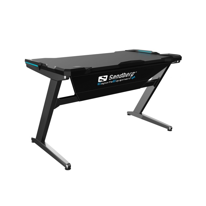Sandberg Fighter Gaming Desk Grey 640-91