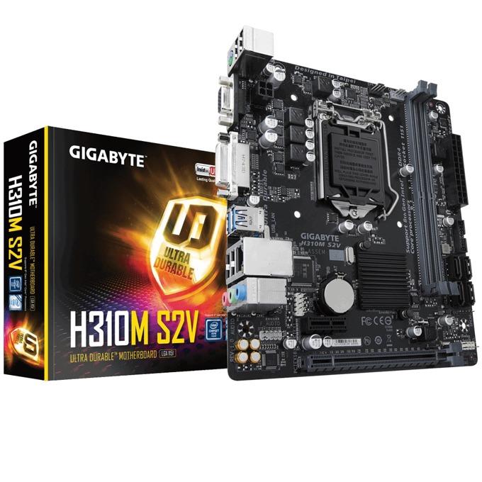 Дънна платка Gigabyte GB H310M S2V, H310, LGA1151, DDR4, PCI-E(D-Sub&DVI), 4x SATA 6Gb/s, 4x USB 3.1 Gen 1, Micro ATX image