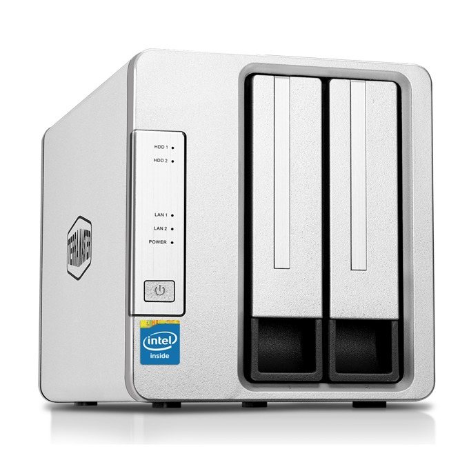 Мрежови диск (NAS) TerraMaster F2-420 (F2-420/2X2TB), четириядрен Intel Celeron J1900 2.00GHz/2.42GHz, 4 GB RAM, 2x 2TB Seagate NAS HDD, 2x RJ-45, USB 3.0, USB 2.0, Tower image