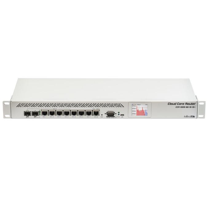 Рутер MikroTik CCR1009-8G-1S-1S+, 8x LAN 100/1000, 1x SFP, 1x SFP+, 2GB RAM image