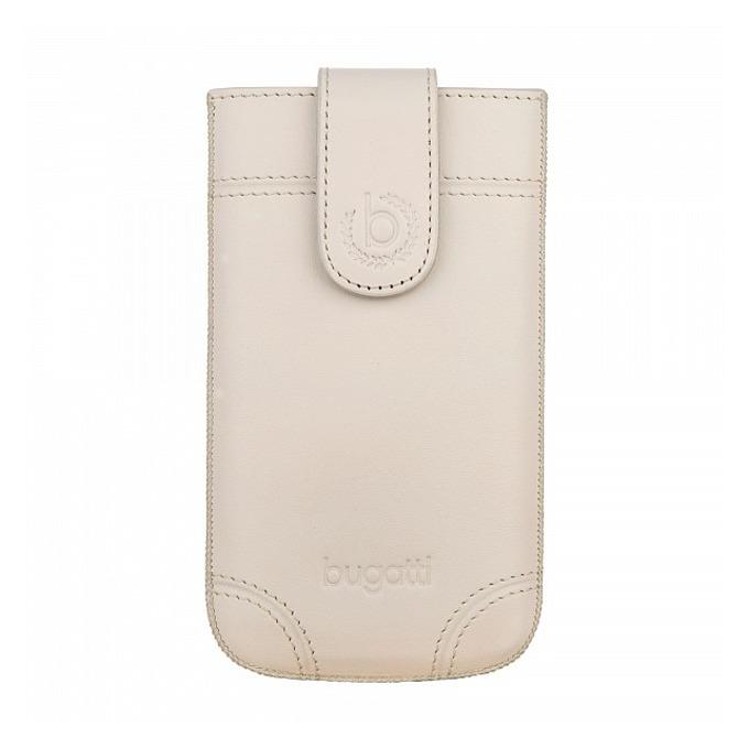 Универсален калъф, джоб, естествена кожа, Bugatti SlimCase Dublin XL, бежов image