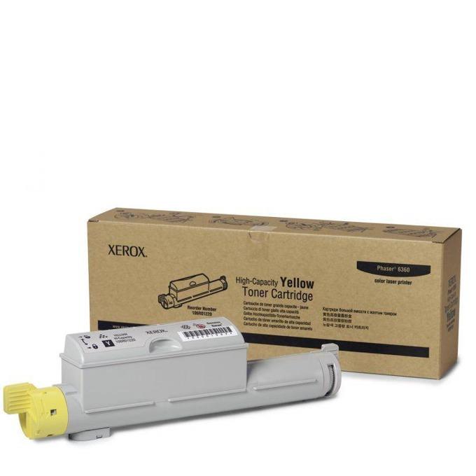 КАСЕТА ЗА XEROX Phaser 6360 - Yellow - P№ 106R01220 - заб.: 12000k image