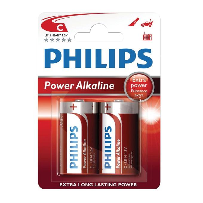 Батерии алкални Philips Power LR14(C), 1.5V, 2 бр. image