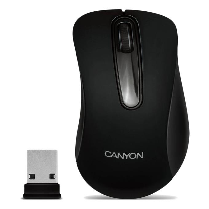 Мишка Canyon CNE-CMSW2, черна, оптична, 800 dpi, USB image