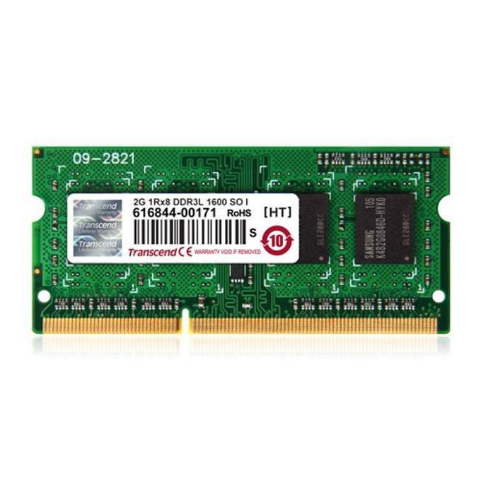 2GB DDR3L 1600MHz, SODIMM, Transcend, 1.35V