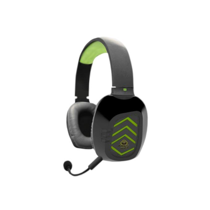 Слушалки KEEPOUT HX5V2, Микрофон, 3.5 мм жак, черно/зелени image