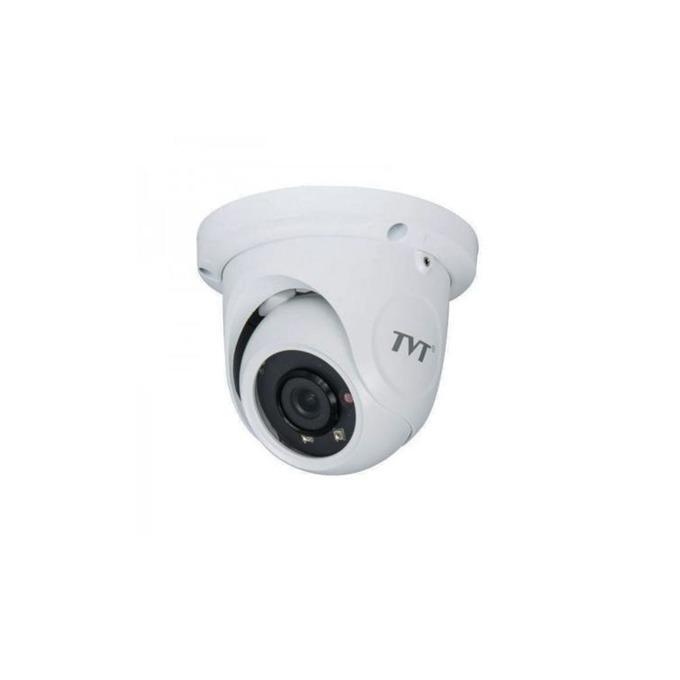 IP камера TVT TD-9524S1, куполна, 2 Mpix(1920×1080@25FPS), 3.6mm обектив, H.264/MJPEG, IR осветеност( до 20 метра), външна IP66, PoE, 1x RJ-45 image