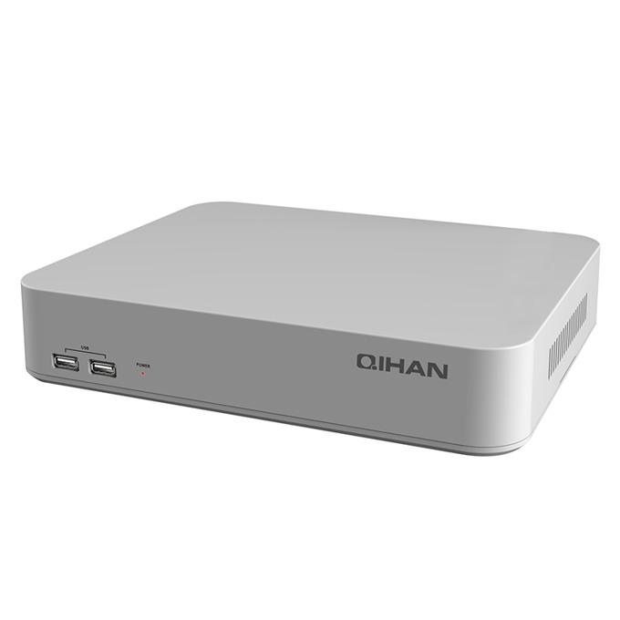 Видеорекордер NVR, Qihan QH-N1004A-H, 4k@1080P, Full HD, VGA, HDMI, ONVIF, 1x4TB, WIFI image