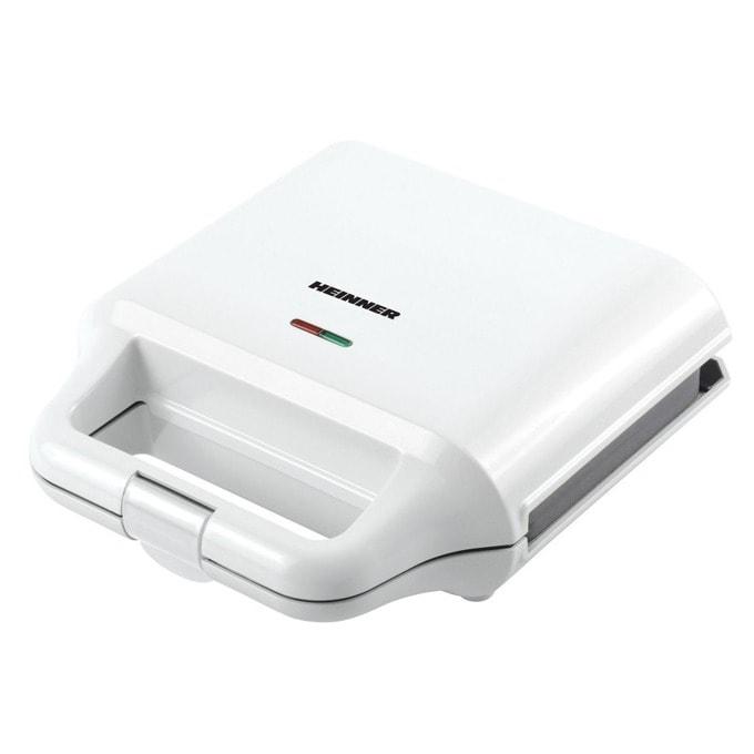 Сандвич скара Heinner SM-2H700WH, незалепващи се и подвижни грил плочи, 2 типа плочи: гофрети и грил, индикатор за температура, 700W, бял image