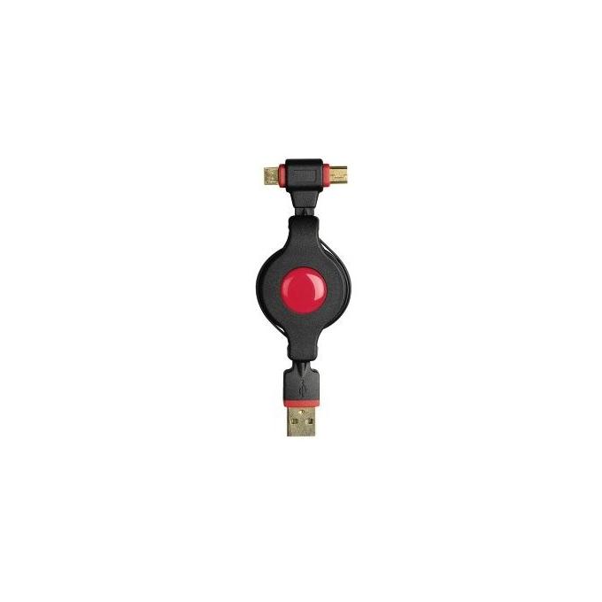 Кабел HAMA 54515, USB A(м) към USB Mini/Micro B(м), 0.75m, черен image