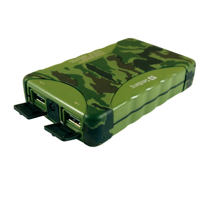 Външна батерия/power bank/ Sandberg Outdoor 420-18, 10 400 mAh, зелена/камуфлаж image
