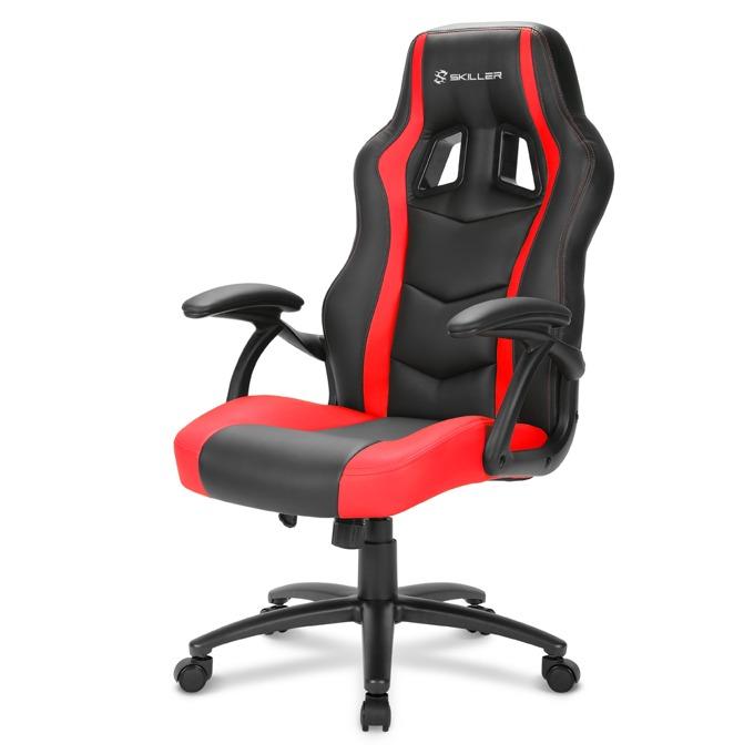 Геймърски стол Sharkoon Skiller SGS1, черен/червен image