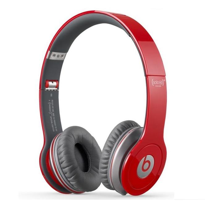 Слушалки Beats by Dre Solo HD On Ear, червени, сгъваеми, оптимизирани за iPhone/iPad/iPod image