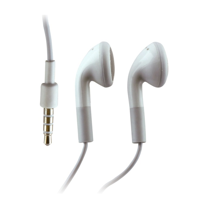 Слушалки Cellular Line IT3501, микрофон, изключително малки и удобни, 3.5 mm жак, бели image