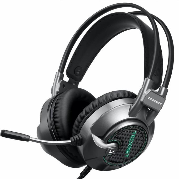 Слушалки TeckNet EGH01928GA01, микрофон, 40мм говорители, USB, сиви image