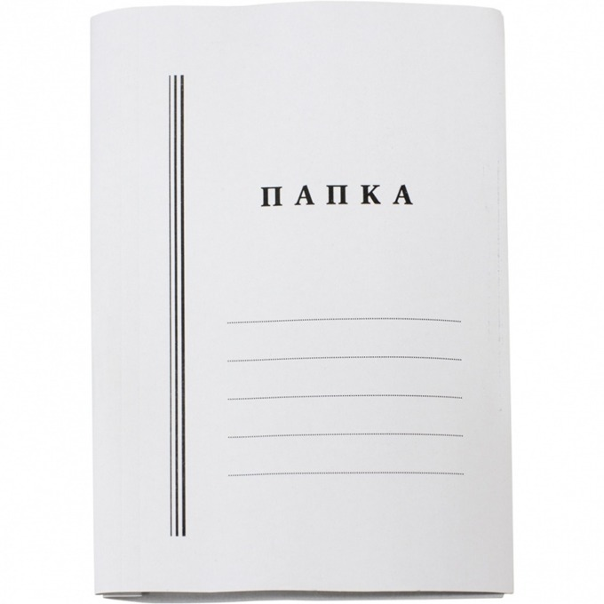 Папка картонена, с машинка, бяла, 300гр/м2 image