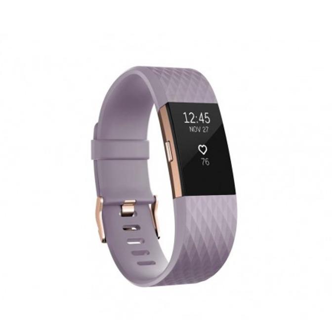 Смарт гривна Fitbit Charge 2 Small Size, Bluetooth, GPS, OLED Display, Mac OS X 10.6 (или по-нова), iPhone 4S (или по-нова), iPad 3 gen. (или по-нова), Android and Windows 10 devices, розово-златиста image