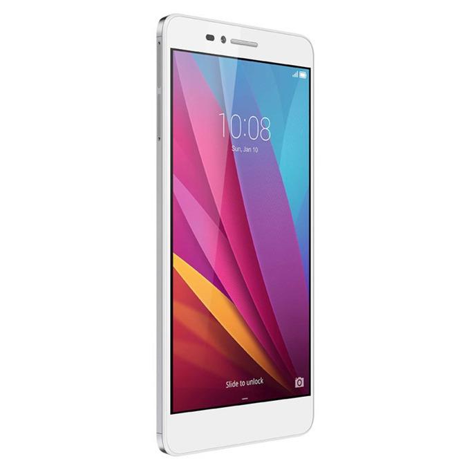 "Huawei Honor 5X Kiwi (бял/сребрист), поддържа 2 сим карти, 5.5"" (13.97 cm) Full HD IPS Display, осемядрен Qualcomm MSM8939 (4x 1.2GHz & 4x 1.5GHz Cortex-A53), 2GB RAM, 16GB Flash памет(+ microSD слот), 13.0 & 5.0 Mpix camera, Android, 158g image"