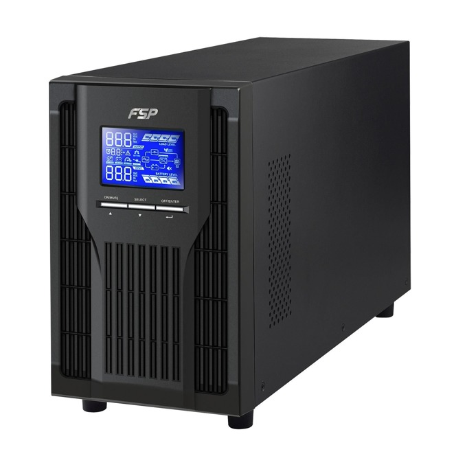 UPS Fortron CH-1101TS, 1000VA/900W, LCD дисплей, USB, RS232, On-Line, Tower image