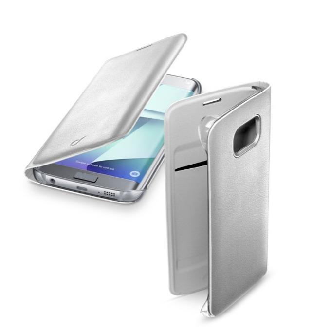 Калъф тип Flip Cover Cellular Line, еко кожа, за Samsung Galaxy S7 Edge, бял image