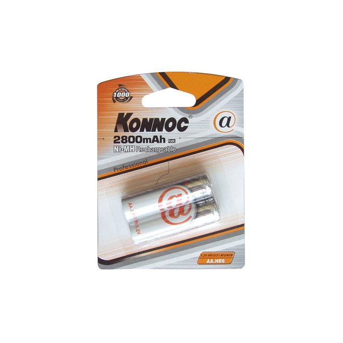 Батерии 2x Konnoc Profesional HR6 AA, 2800mAh image