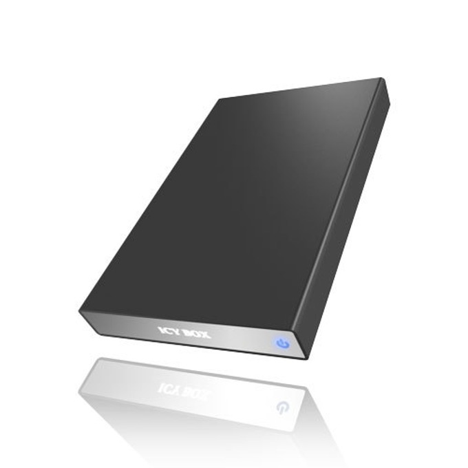 """Кутия 2.5"""" (6.35 cm), RaidSonic IB-290StUS-B, за 2.5"""" SATA HDD, USB 2.0 , изцяло алуминиева конструкция, черна  image"""