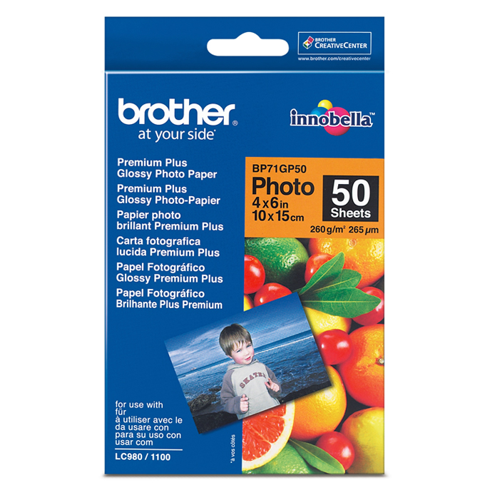 ХАРТИЯ BROTHER BP-71 A6 PREMIUM GLOSSY PHOTO PAP…