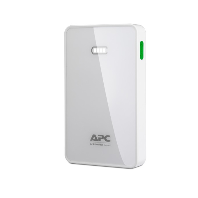 Външна батерия/power bank APC, бял, 5000mAh