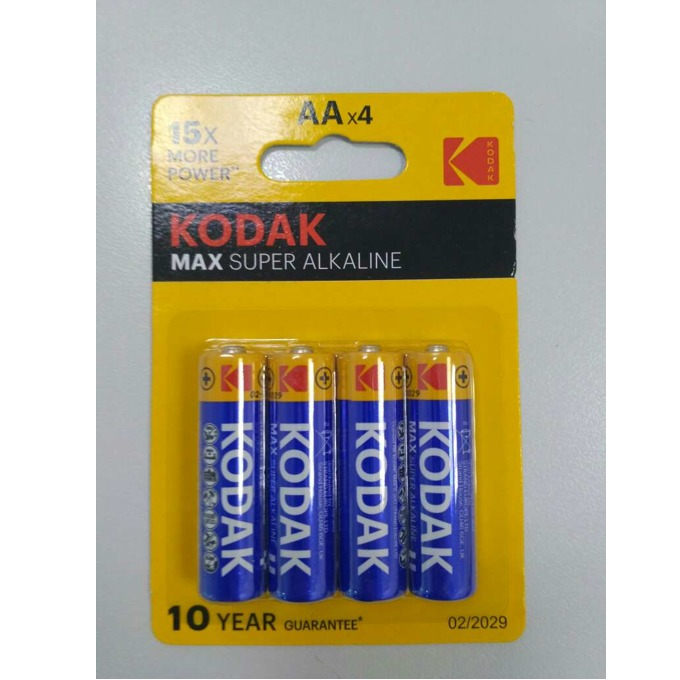 Kodak Max super alkaline AA 4 бр.