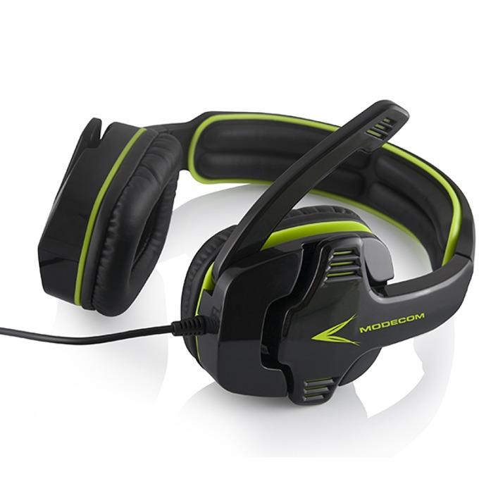 Слушалки Modecom Volcano MC-829 Alien, микрофон, гейминг, 20Hz - 20kHz, 2.2m кабел, зелени image