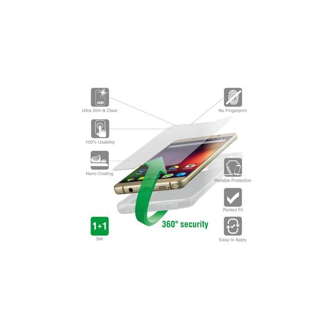 Протектор от закалено стъкло /Tempered Glass/, 4smarts за LG K10, в комплект с 4smart TPU кейс image