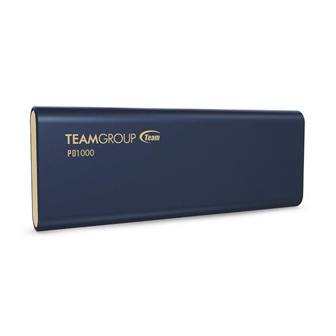 Памет SSD 512GB Team Group Elite PD1000, външен, USB 3.2 Type-C, скорост на четене 1000MB/s, скорост на запис 900MB/s, синя image