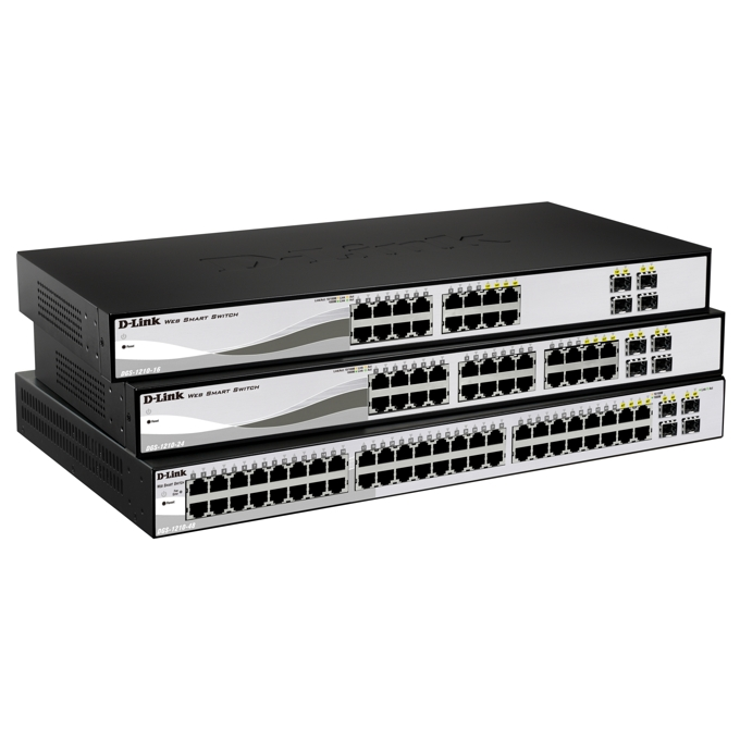 Суич D-Link DGS-1210-48, 1000Mbps, 44-Port, 4 Combo SFP image