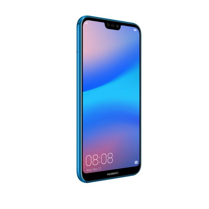 "Смартфон Huawei P20 Lite (син), поддържа 2 sim карти, 5.84"" (14.83 cm) Full HD IPS, осемядрен Huawei Kirin 659 (4x 2.36GHz + 4x 1.7GHz), 4GB RAM, 64GB flash памет (+ microSD слот), 16.0 + 2.0 Mpix & 16.0 Mpix, Android, 145g image"